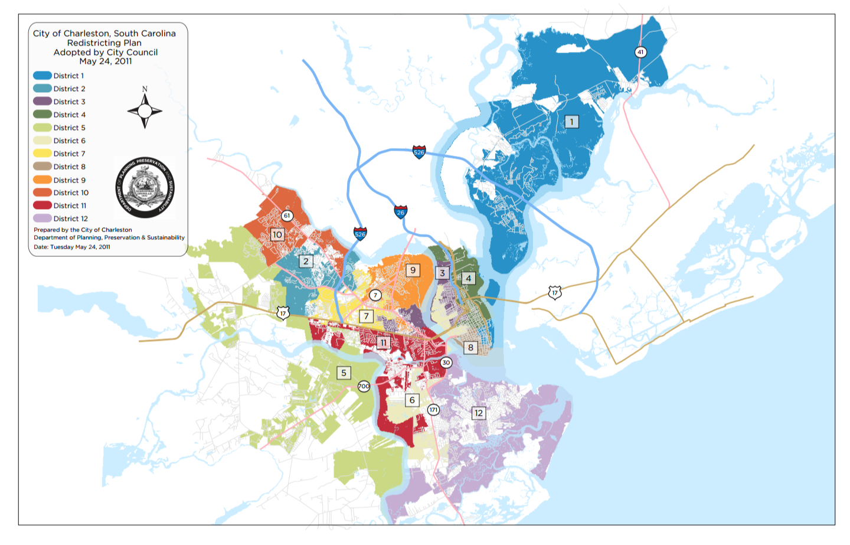 The Gentrification Of The Urban Fringe In Charleston South Carolina - South carolina political map